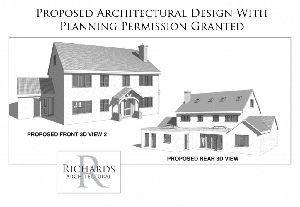 approved architectural designs for extension of 1950 house
